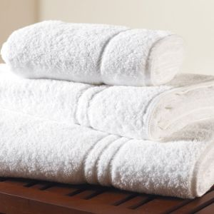 White Cotton Jacquard Terry Hotel Bath Towel, Bathroom Linen pictures & photos