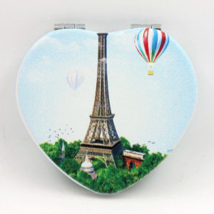 Advertising Gift-Heart Double Sides Makeup Cosmetic Portable Pocket Heart Mirror pictures & photos