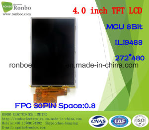 "4.0"" 272X480 MCU TFT LCD Screen, Ili9488, 30pin for POS, Doorbell, Medical pictures & photos"
