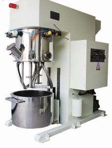 Vacuum High Speed Shearing Mixing Equipment with Dual Planetary Mixing Shafts pictures & photos