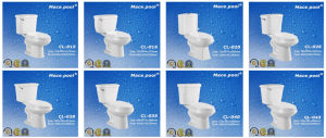 Different Size Ceramic Two Piece Toilets for Bathroom pictures & photos
