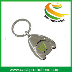 High Quality Custom Metal Keychains with Coin Holder pictures & photos