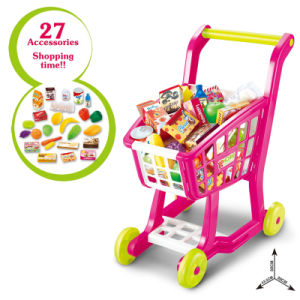 Plastic Toys Supermarket Shopping Cart Toy Trolley (H6977058) pictures & photos