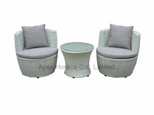 Balcony Wicker Sofa Set Outdoor Furniture Rattan Garden Furniture Lounge Sofa pictures & photos