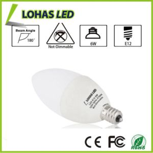 Warm White LED Candle Light Bulb 60 Watt Equivalent with 6W E12 pictures & photos