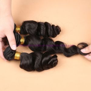 8A Mongolian Loose Wave Bundles with Closure 3 or 4 Bundles Virgin Hair with Lace Closure