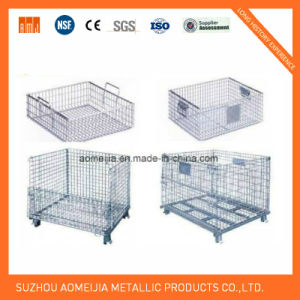 Movable and Stackable Wire Mesh Storage Cage Product pictures & photos