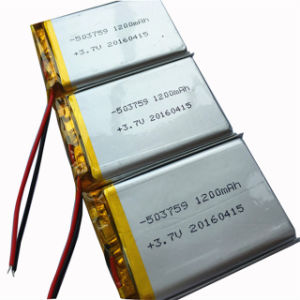 1200mAh 3.7V 503759plrechargeable Li-Polymer Battery pictures & photos