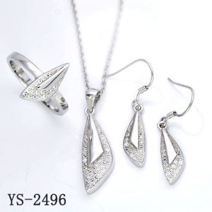 Fashion Jewelry New Designs 925 Silver CZ Jewellery Sets pictures & photos