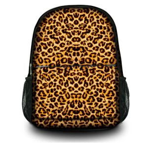 Leopard Print Backpack Canvas Girl Bag Laptop Bag for School Travelling pictures & photos