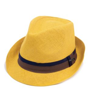 Customized Solid Colour Straw Fedora pictures & photos
