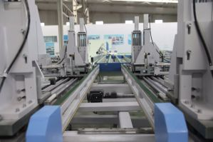 UPVC Window Door CNC Control Automatic Four Corner Horizontal Welding Machine pictures & photos