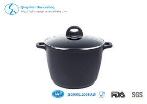 Blue Color Ceramic Coated Couscous Kitchen Soup Pots and Pans pictures & photos