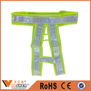 Industrial Fluorescent Yellow Safety Traffic Reflective Cross Belt Vest pictures & photos