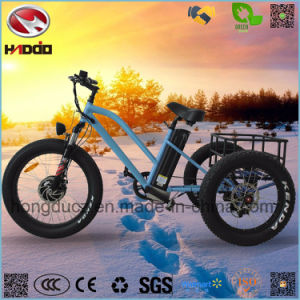 3 Wheel 26inch 500W Fat Tire Cargo Electric Tricycle pictures & photos