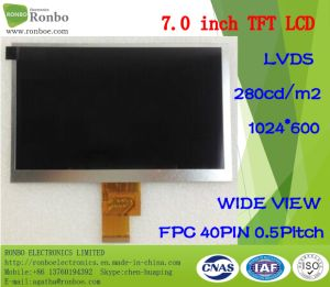 7.0 Inch 1024X600 Lvds 40pin 300CD/M2 Replace Chimei Hj070na-13A LCD pictures & photos