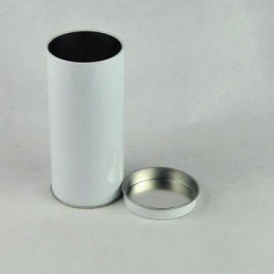 Round Food Grade Empty Tea Can Tin Box Airtight Container