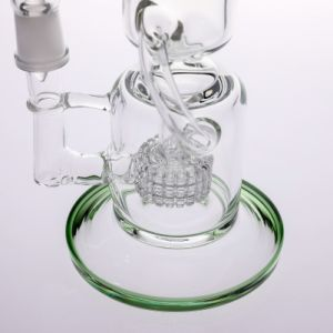 "Microscope Glass Pipe with Tyre Perc Glass Water Pipe 14"" pictures & photos"