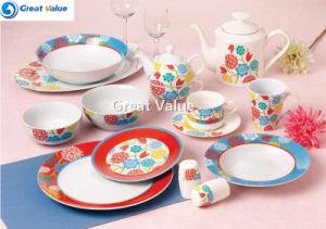 Factory Supply Turkish Glazed Porcelain Dinner Set pictures & photos