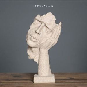 Abstract Art Statue Face Garden Home Decor Ornament Figurines Resin New pictures & photos