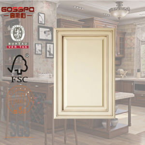 White Mahogany Wood Front Door for Kitchen Cabinet (GSP5-021) pictures & photos