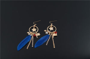 Feather with Charms Earring pictures & photos
