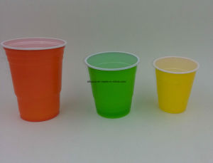 7oz Disposable Plastic Double Color Party Cup pictures & photos