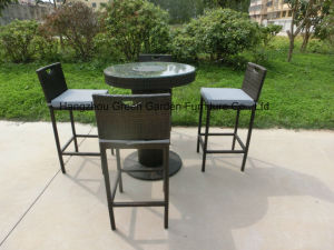 Rattan Barstool with Table&Ice Bucket Outdoor Furniture Set pictures & photos