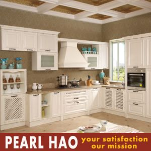 Modular White MDF Solid Wood Kitchen Cupboard Cabinet pictures & photos
