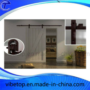 Black Powder Coated Sliding Barn Door Hardware pictures & photos