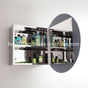 Stainless Steel Furniture Bathroom Oval Mirror Cabinet (7021) pictures & photos