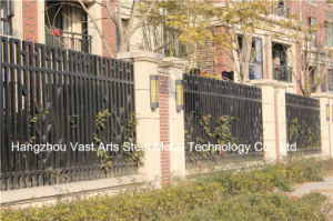 Customized Elegant High-Quality Residential Industrial Galvanized Steel Fence pictures & photos