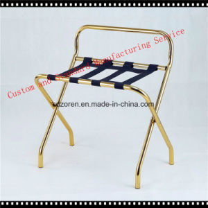 Hotel Room Passenger Folding Suitcase Stand Luggage Rack- Gold Finish pictures & photos