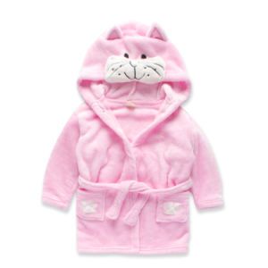 Winter Coral Velvet Children Bath Robe Girl Bathrobe Sleeping Night Wear