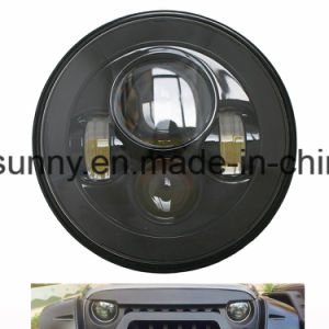 7′′ Round High Low Beam for Jeep Wrangle LED Headlight Without LED Ring pictures & photos