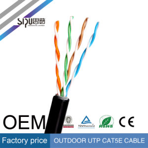 Sipu Copper Outdoor UTP Cat5e Network Cable with Ce pictures & photos