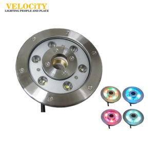 12W/24W High Power RGB IP68 Stainless Steel LED Underwater Fountain Lighting