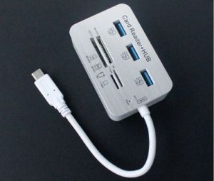 Multi Function 7in1 Combo Smartphone Card Reader+USB Hub for Apple/iPad Series pictures & photos