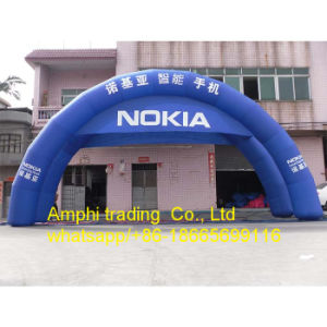 Outdoor Round Advertising Inflatable Printed Air Arch