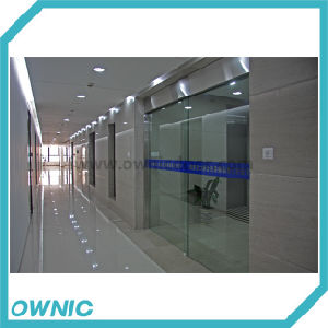 Ss304 Automatic Frameless Sliding Glass Door for Commercial Building, Single Open (glass exclusive) pictures & photos