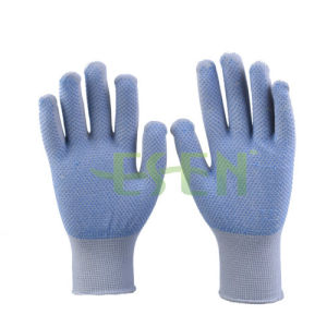 PVC Dotted Gloves, 13 Gauge Knitted Cotton Safety Gloves, Working Gloves pictures & photos