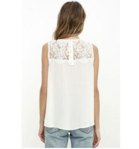 Fashion Summer Women Lace Vest Top Sleeveless Casual Tank Blouse Tops T-Shirt (18021) pictures & photos