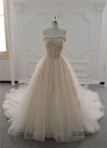 Latest Bridal Girl Ball Gown Wedding Dress Luxury Long Lace Dresses for Women pictures & photos