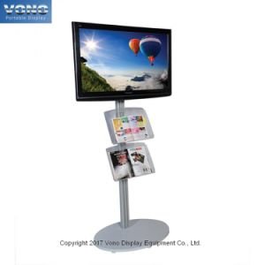 Exhibition TV Stand Portable Display Products with Acrylic Shelf