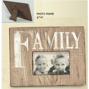 Wood Photo Frame - Family
