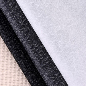 China 100% Nonwoven Double Dotted Fusible Interlining for Denim pictures & photos