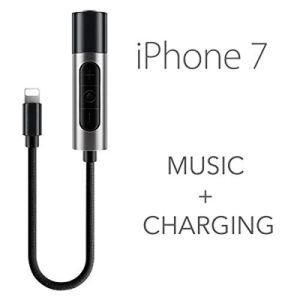 2 in 1 Lightning Adapter for iPhone 7/7 Plus, iPhone 7 Adapter and 3.5mm Earphones Jack Cable pictures & photos