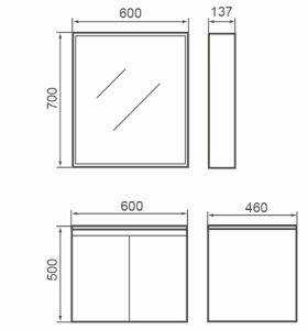 Australian Standard Wall Hung Bathroom Cabinet pictures & photos