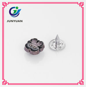 Flower Denim Buttons and Rivet Fastener for Shoes pictures & photos