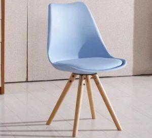 Modern Tulip Dining Chair Wood Leg PP Seat PU Cushion